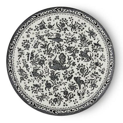 "Burleigh ""Black Regal Peacock"" Dinner Plate design"