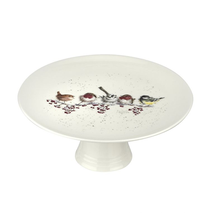 Royal Worcester Wrendale Footed Cake Plate - Snowy Day