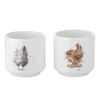 Royal Worcester Wrendale Set of 2 Egg Cups
