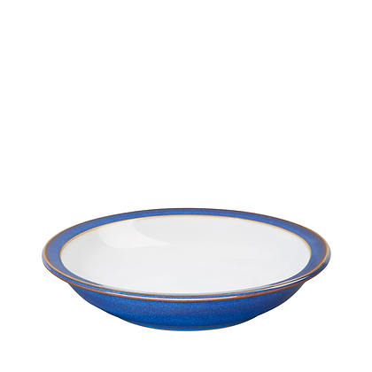 Denby Imperial Blue Shallow Rimmed Bowl
