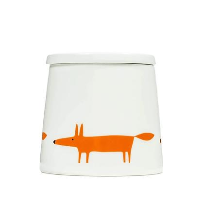 Scion Living Mr Fox Large Storage Jar - White and Orange