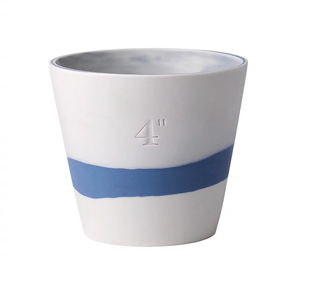 "Wedgwood Jasper Burlington Plant Pot 4"" Blue and White"