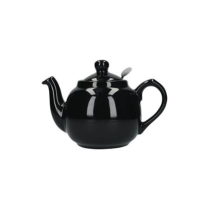 London Pottery 2 Cup Farmhouse Infuser Teapot - Black