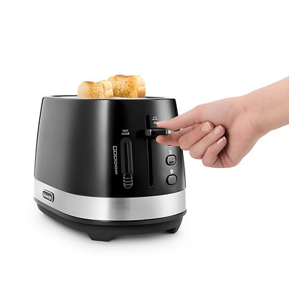Delonghi Active Line 2 Slice Toaster - Black