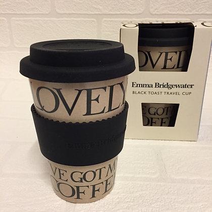 Emma Bridgewater Rice Husk Travel Cup - Black Toast