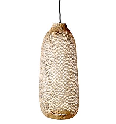 Bloomingville Natural Woven Cane Light Fixture Long