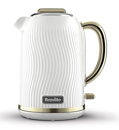 Breville Flow 1.7L Kettle - White and Gold