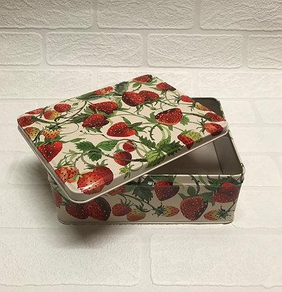 "Elite Tins Emma Bridgewater ""Strawberries"" Deep Rectangular Tin"
