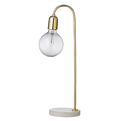 Bloomingville Gold Metal and Marble Lamp