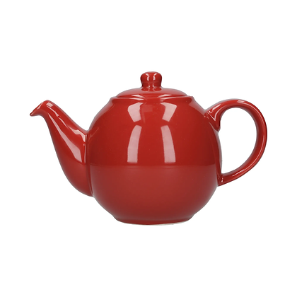 London Pottery 6 Cup Globe Teapot - Red