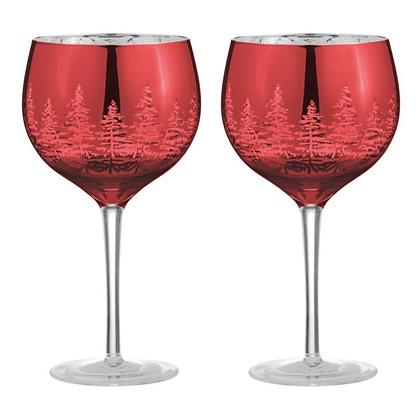 DRH Alpine Set of 2 Gin Glasses - Red