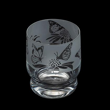 Dartington Aspect Butterflies Glass Tumbler