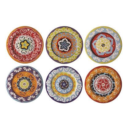 Rose & Tulipani Nador Set of 6 Salad Plates