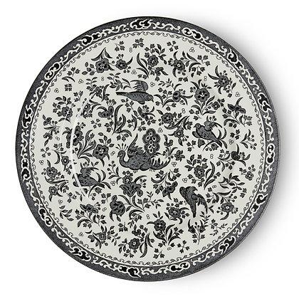 "Burleigh ""Black Regal Peacock"" Lunch Plate interior design"