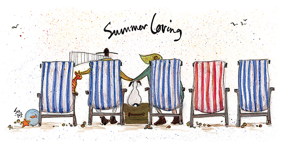 Canvas Art - Sam Toft 'Summer Loving'