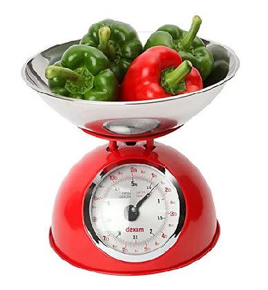 Dexam Retro Kitchen Scales - Red