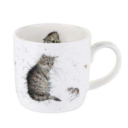 Royal Worcester Wrendale 'Cat & Mouse' Fine Bone China Mug