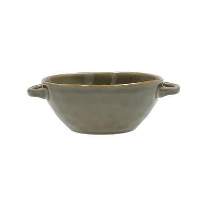 Concerto Taupe Grey Handled Soup Bowl