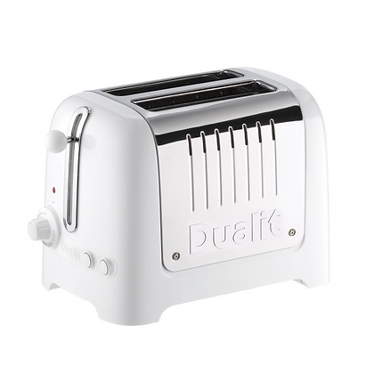 Dualit Lite 2 Slice Toaster - Gloss White