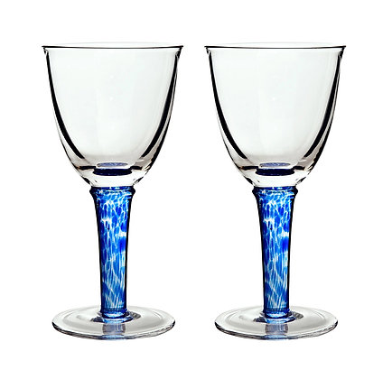 Denby Imperial Blue Red Wines Set of 2
