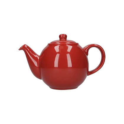 London Pottery 4 Cup Globe Teapot - Red
