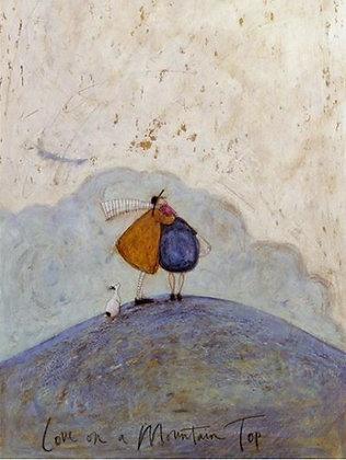Canvas Art - Sam Toft 'Love on a Mountain Top'