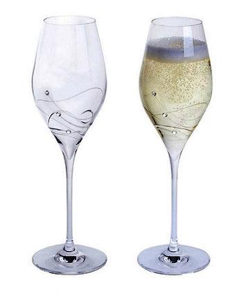 Dartington Crystal, Glitz Prosecco Glass- Giftboxed pair.