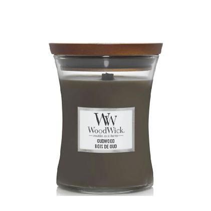 Woodwick Medium Candle - Oudwood