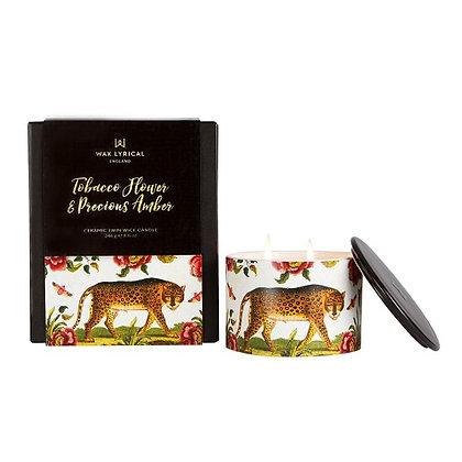 Wax Lyrical Street Mythology Tobacco Flowers & Precious Amber Ceramic Candle
