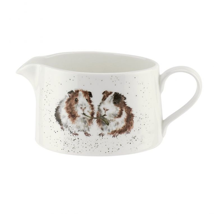 Royal Worcester Wrendale Sauce Boat - Guinea Pigs