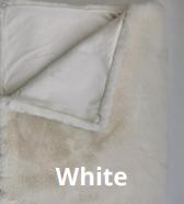 Malini Rapture Faux Rabbit Throw - White
