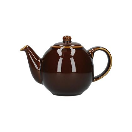 London Pottery 4 Cup Globe Teapot - Rockingham Brown
