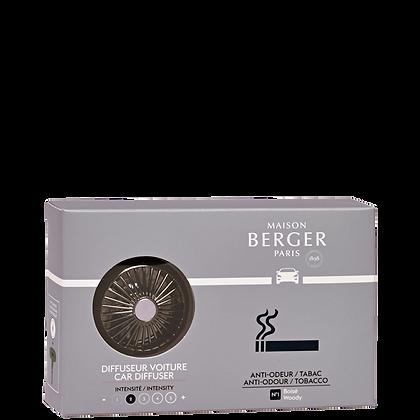 Maison Berger Tobacco Anti-odour Car Diffuser Set
