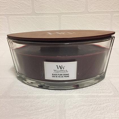 Woodwick Ellipse Candle - Black Plum Cognac
