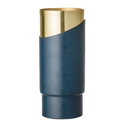 Bloomingville Blue Metal Vase