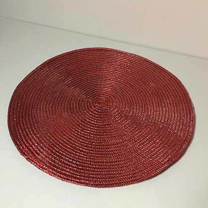 "Peggy Wilkins Perle 14"" Round Placemat - Red"