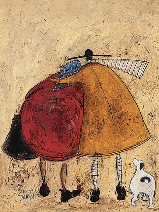 Canvas Art - Sam Toft 'Hugs on the Way Home'