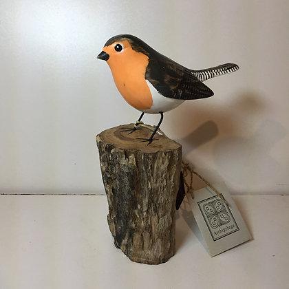 Archipelago Robin Wooden Sculpture