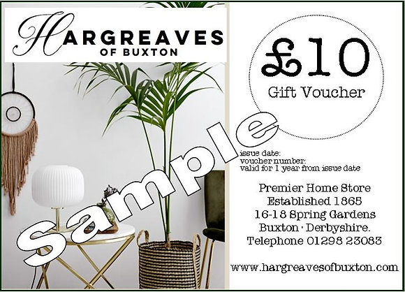 Gift Voucher (Use In Store) - £10