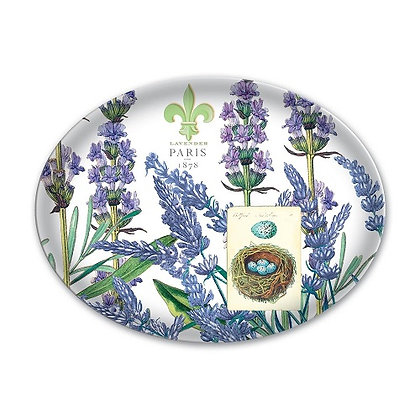 Michel Designs Glass Soap Dish - Lavender Rosemary
