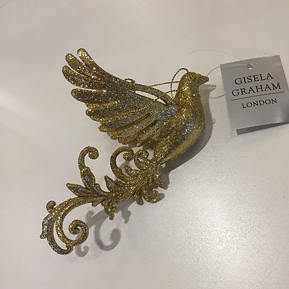 Gisela Graham Decoration - Gold Flying Bird