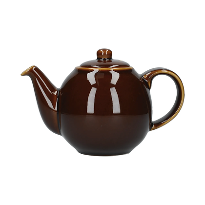 London Pottery 6 Cup Globe Teapot - Rockingham Brown