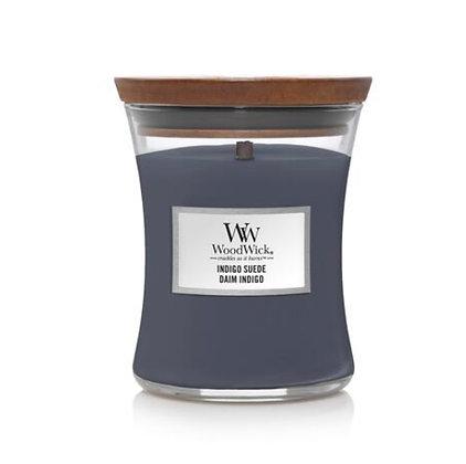 Woodwick Medium Candle - Indigo Suede
