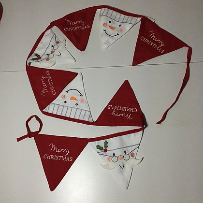 Peggy Wilkins Santa and Snowman Bunting