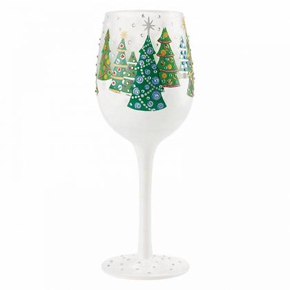 Lolita Wine Glass - Christmas Trees