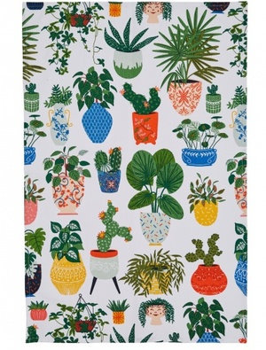 Ulster Weavers Pot Plants Tea Towel