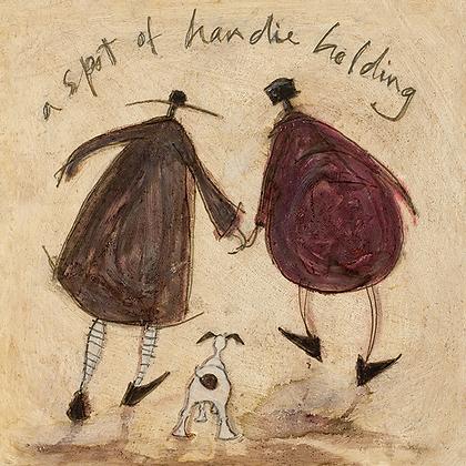 Canvas Art - Sam Toft 'A Spot of Handie Holding'