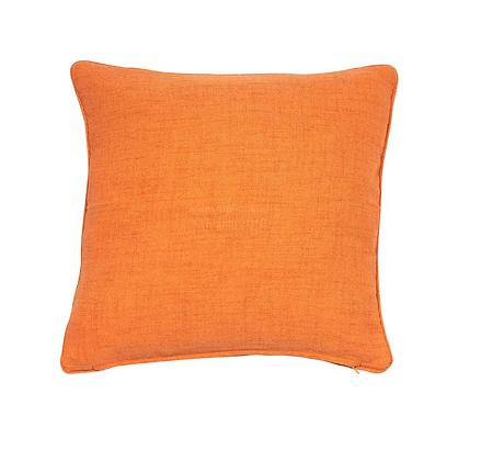 Malini Monza Feather Cushion - Orange