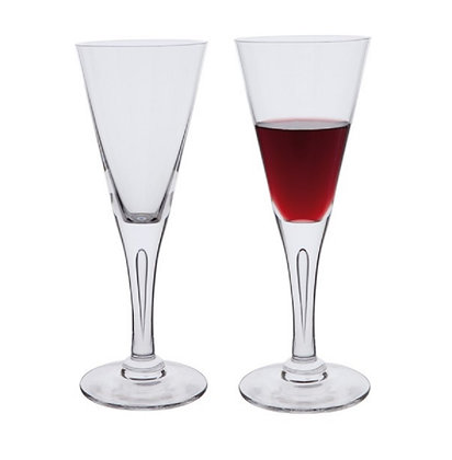 Dartington Crystal Sharon Wine Goblet Pair-
