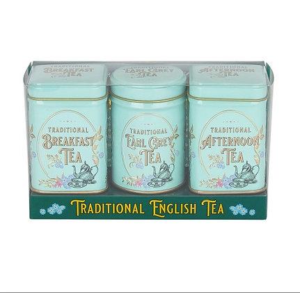 New English Vintage Victorian Mini Tin Triple Pack
